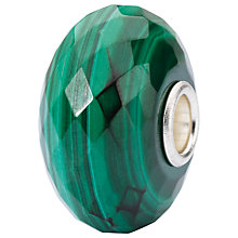 Buy Trollbeads Sterling Silver Malachite Bead, Green Online at johnlewis.com