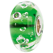 Buy Trollbeads Sterling Silver Murano Glass Diamond Shape Detail Bead, Green Online at johnlewis.com