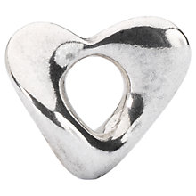 Buy Trollbeads Sterling Silver Soft Heart Bead Charm, Silver Online at johnlewis.com