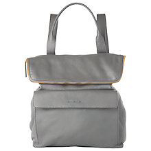 Buy Whistles Verity Large Leather Backpack, Dark Grey Online at johnlewis.com