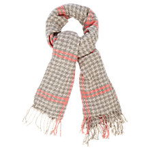 Buy Oasis Houndstooth Boucle Scarf, Multi Online at johnlewis.com