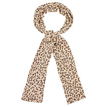 Buy Oasis Animal Sparkle Skinny Scarf, Natural Online at johnlewis.com