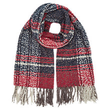 Buy Oasis Boucle Check Scarf, Multi Blue Online at johnlewis.com