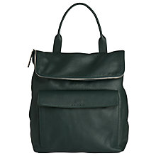 Buy Whistles Verity Large Leather Backpack, Dark Green Online at johnlewis.com