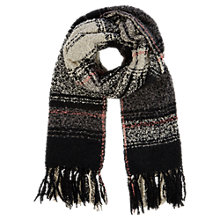 Buy Oasis Millie Boucle Checked Scarf, Black/White Online at johnlewis.com