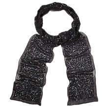 Buy Phase Eight Holly Skinny Sequin Scarf, Black Online at johnlewis.com