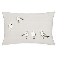 Buy John Lewis Seagulls Cushion, Smoke Online at johnlewis.com