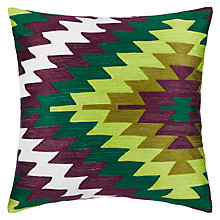 Buy John Lewis Kelim Crewel Cushion, Multi Online at johnlewis.com