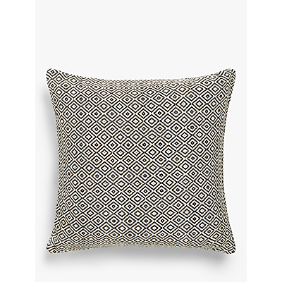 John Lewis Diamonds Cushion, Black / White