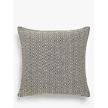Buy John Lewis Diamonds Cushion, Black / White Online at johnlewis.com