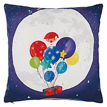 Buy John Lewis Man on the Moon Cotton Cushion, 30 x 30cm, Blue Online at johnlewis.com