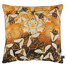 Buy Timorous Beasties for John Lewis Honey Bee Cushion, Multi Online at johnlewis.com