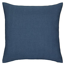 Buy John Lewis Herringbone Linen Cushion, Hunter Green Online at johnlewis.com