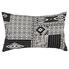 Buy John Lewis Medina Cushion, Black / White Online at johnlewis.com