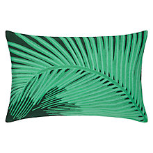 Buy John Lewis Tropical Leaf Cushion, Green Online at johnlewis.com