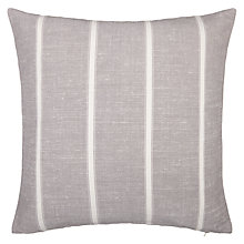 Buy John Lewis Padstow Stripe Cushion, Grey Online at johnlewis.com