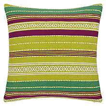 Buy John Lewis Woven Stripe Cushion, Multi Online at johnlewis.com