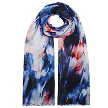 Buy John Lewis Capsule Onyx Print Scarf, Blue/Multi Online at johnlewis.com