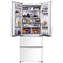 Buy Hoover Dynamic 4x4 HMN7182W 4-Door American Style Fridge Freezer, A+ Energy Rating, 70cm Wide, White Online at johnlewis.com