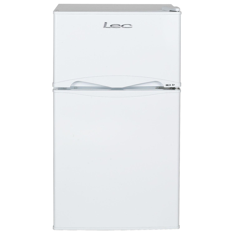 LEC Lec T50084W Freestanding Undercounter Fridge Freezer, A+ Energy Rating, 48cm Wide, White