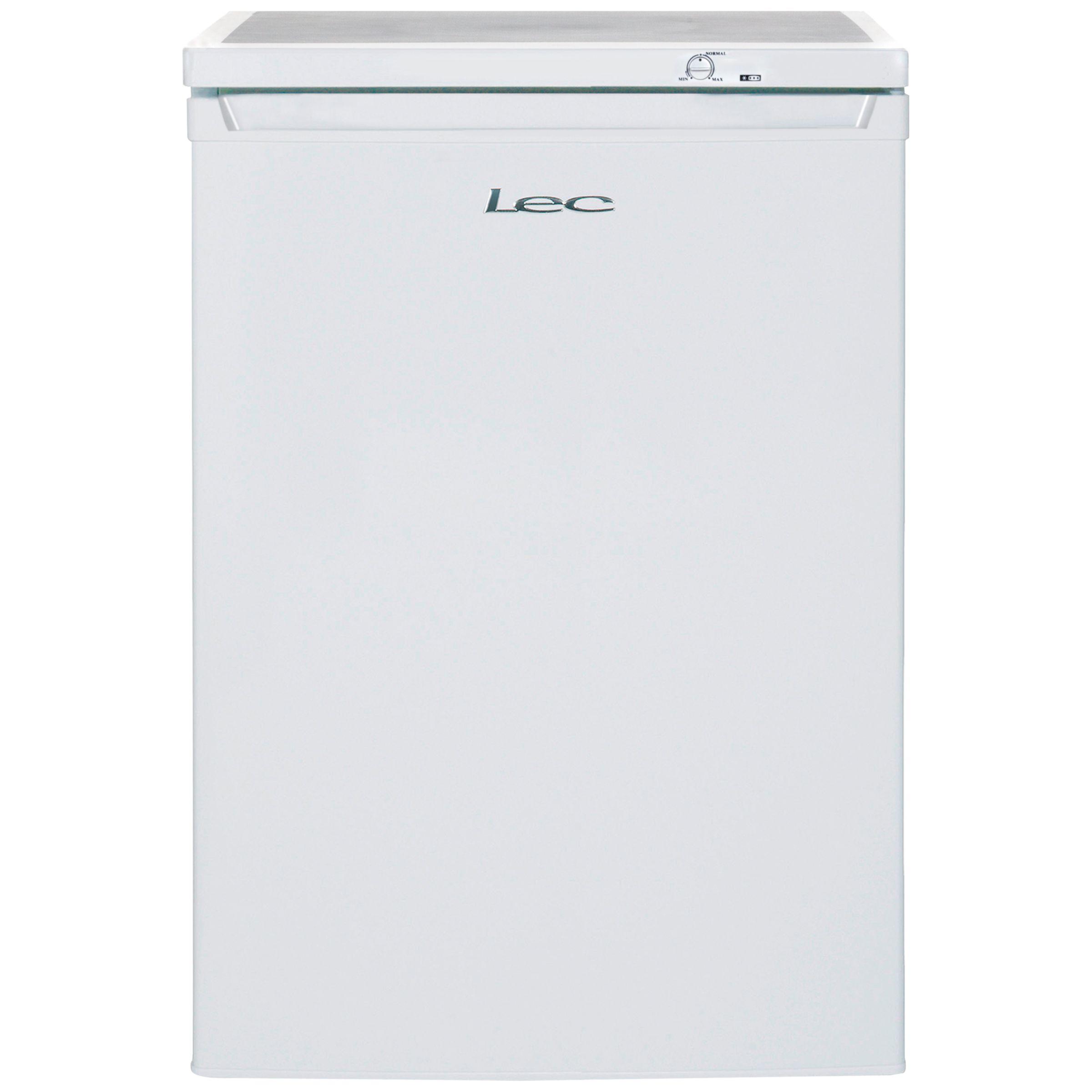 LEC Lec U6014W Freestanding Undercounter Freezer, A+ Energy Rating, 60cm Wide, White