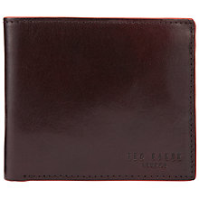 Buy Ted Baker Paintin Leather Contrast Edge Wallet, Chocolate Online at johnlewis.com