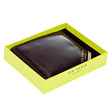 Buy Ted Baker Newcor Metal Corner Bifold Leather Wallet, Chocolate Online at johnlewis.com
