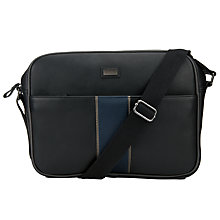 Buy Ted Baker Sprinto Stripe Web Despatch Bag, Black Online at johnlewis.com