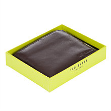 Buy Ted Baker Bonmore Bifold Leather Wallet, Chocolate Online at johnlewis.com