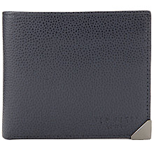 Buy Ted Baker Metcor Metal Corner Leather Wallet, Navy Online at johnlewis.com
