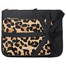 Buy Dune Sadie Double Makeup Pouch, Leopard Online at johnlewis.com