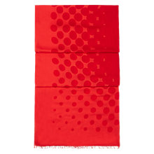 Buy Hobbs Op Spot Scarf, Hot Orange Online at johnlewis.com