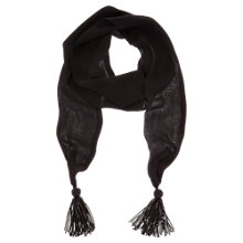 Buy Mint Velvet Skinny Tassel Scarf, Black Online at johnlewis.com
