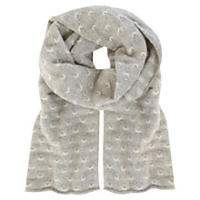 Buy Mint Velvet Stitch Textured Scarf, Silver Grey Online at johnlewis.com
