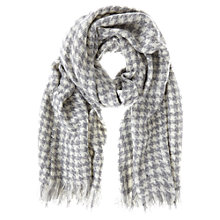 Buy Mint Velvet Houndstooth Scarf, Grey/Cream Online at johnlewis.com