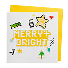 Buy Chipp'd Merry Bright Video Card and Stickers Online at johnlewis.com