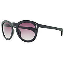Buy John Lewis Preppy Cat's Eye Gradient Sunglasses, Black Online at johnlewis.com
