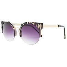 Buy John Lewis Rimless Cat's Eye Sunglasses,Tortoise Online at johnlewis.com