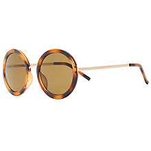 Buy John Lewis True Round Sunglasses, Havana Online at johnlewis.com