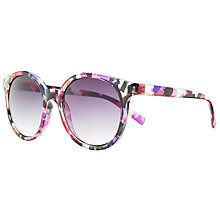 Buy John Lewis Floral Preppy Round Sunglasses, Multi Online at johnlewis.com