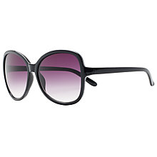 Buy John Lewis Oversized Square Sunglasses, Black Online at johnlewis.com