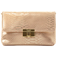 Buy Dune Balbinas Turn Lock Clutch Bag, Gold Online at johnlewis.com