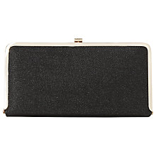 Buy Dune Brennas Metallic Box Clutch Bag, Black Online at johnlewis.com