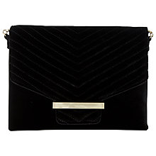 Buy Dune Elliemay Velvet Quilted Clutch Bag Online at johnlewis.com
