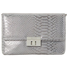 Buy Dune Balbinas Turn Lock Clutch Bag, Pewter Online at johnlewis.com