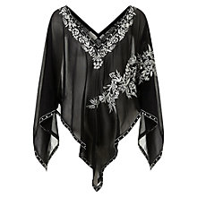 Buy East Bird of Paradise Embroidered Silk Poncho, Black Online at johnlewis.com