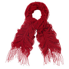 Buy Studio 8 Luna Loose Knit Scarf, Red Online at johnlewis.com