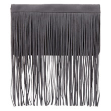 Buy Mint Velvet Fringed Clutch Bag, Grey Amber Online at johnlewis.com