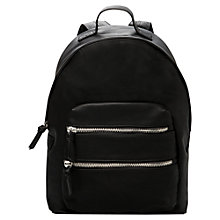 Buy Mango Zipped Rucksack, Black Online at johnlewis.com