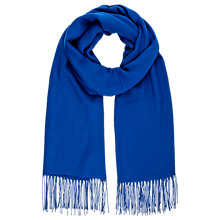 Buy Planet Plain Tassel Scarf, Admiral Blue Online at johnlewis.com